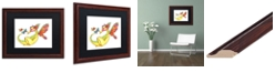 "Trademark Global Jennifer Nilsson Cheerful - Dragon 10 Matted Framed Art - 16"" x 16"" x 0.5"""