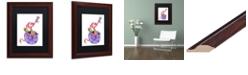 "Trademark Global Jennifer Nilsson Sugar and Spice Dragon Matted Framed Art - 11"" x 11"" x 0.5"""