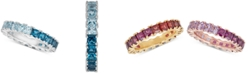 Macy's London Blue Topaz  (2-1/5 ct. t.w.) & Sky Blue Topaz (1-1/2 ct. t.w.) Band in Sterling Silver (Also Available in Multi-Stone)