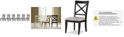Furniture Rachael Ray Everyday Dining, 6-Pc. Set (6 X-Back Side Chairs)