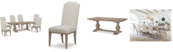 Furniture Rachael Ray Monteverdi Dining Furniture, 7-Pc. Set (Table & 6 Upholstered Side Chairs)