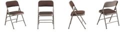 Flash Furniture Hercules Series Curved Triple Braced Folding Chair