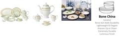 Lorren Home Trends Sonia 57-PC Dinnerware Set, Service for 8