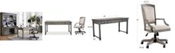 Furniture Sloane Home Office, 2-Pc. Set (Writing Desk & Upholstered Desk Chair)