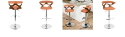 Lumisource Gardenia Adjustable Barstool