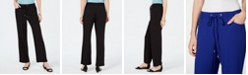 JM Collection Crinkle Wide-Leg Pants,Created for Macy's