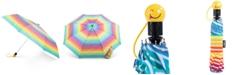 Totes Auto-Open Umbrella with Emoji Face Handle