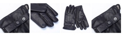 Royce Leather Royce New York Lambskin Men's Touchscreen Cashmere Gloves