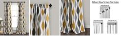 "Lush Decor Mid Century Geo Room Darkening Window Curtain Panels Set, 84"" x 52"""