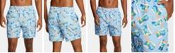 "Nautica Nautica Men's Blue Sail Aloha Quick-Dry Tropical-Print 6"" Swim Trunks, Created for Macy's"