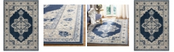 "Safavieh Brentwood Navy and Creme 5'3"" x 7'6"" Area Rug"