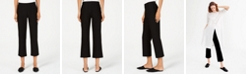 Eileen Fisher Flared Washable Crepe Cropped Pull-On Pants, Regular & Petite
