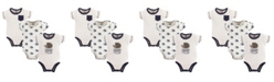 Touched by Nature Organic Cotton Bodysuits, 3-Pack, Hedgehog, 0-12 Months