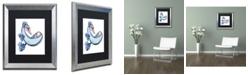 "Trademark Global Jennifer Nilsson Ocean Treasure - Dragon Matted Framed Art - 16"" x 20"" x 0.5"""