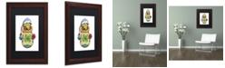 "Trademark Global Jennifer Nilsson Snuggly Warm Dragon Matted Framed Art - 16"" x 20"" x 0.5"""
