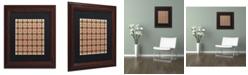 """Trademark Global Jennifer Nilsson Christmas Gingham 2 Matted Framed Art - 11"""" x 11"""" x 0.5"""""""