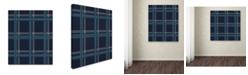 "Trademark Global Jennifer Nilsson Blue Gold Canvas Art - 16"" x 20"" x 0.5"""