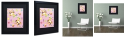 """Trademark Global Jennifer Nilsson Bunny Eggs Chicks Matted Framed Art - 18"""" x 18"""" x 2"""""""