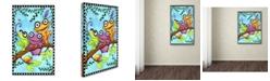 "Trademark Global Jennifer Nilsson Frogs Trio Branch Canvas Art - 11"" x 11"" x 0.5"""
