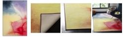 """Safavieh Paint Brush Fuchsia and Yellow 5'1"""" x 7'6"""" Area Rug"""