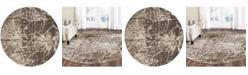 "Safavieh Porcello Gray and Dark Gray 6'7"" x 6'7"" Round Area Rug"