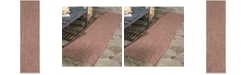 "Safavieh Courtyard Red and Beige 2'3"" x 8' Runner Area Rug"