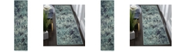 "Safavieh Monaco Light Blue and Multi 2'2"" x 8' Runner Area Rug"