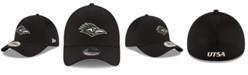 New Era University of Texas San Antonio Roadrunners Black White Neo 39THIRTY Stretch Fitted Cap