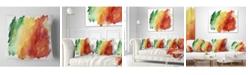 """Design Art Designart 'Color Explosion' Abstract Throw Pillow - 16"""" x 16"""""""