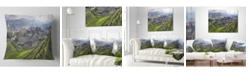 "Design Art Designart 'Vineyards In Italy Panoramic' Photography Throw Pillow - 16"" x 16"""