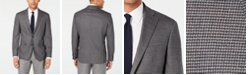 Cole Haan Men's Grand .OS Wearable Technology Slim-Fit Stretch Gray Tic Sport Coat