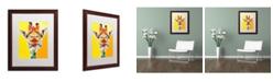 """Trademark Global DawgArt 'Giraffe No. 3' Matted Framed Art - 16"""" x 20"""" x 0.5"""""""