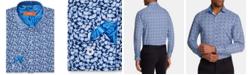 Tallia Orange Men's Slim-Fit Performance Stretch Floral Dress Shirt