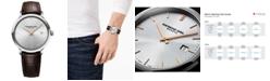 Raymond Weil Men's Swiss Toccata Brown Leather Strap Watch 39mm