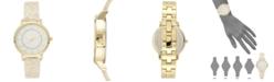 INC International Concepts I.N.C. Women's White Horn  Resin Bangle Bracelet Watch 36mm, Created for Macy's