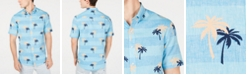 Club Room Men's Tropical Print Linen Shirt, Created for Macy's