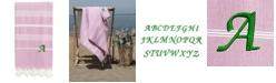 Linum Home Personalized Lucky Pestemal Beach Towel