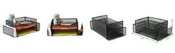 Mind Reader Desk Organizer with 2 Side Storage Compartments