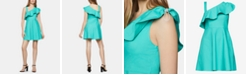 BCBGeneration Asymmetrical-Neck Fit & Flare Dress