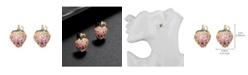 nOir Pink Cubic Zirconia Strawberry Stone Earring