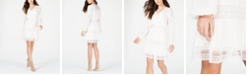 GUESS Deana Crochet-Trim Peasant Dress