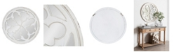 Kate and Laurel Holland Overlayed Round Wall Mirror