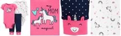 Carter's Baby Girls 3-Pc. Unicorn Bodysuits & Pants Set