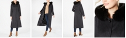 Forecaster Fox-Fur-Trim Hooded Maxi Coat
