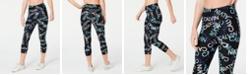 Calvin Klein Logo-Print High-Waist Cropped Leggings