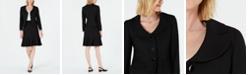 Le Suit Three-Button Diamond Jacquard Skirt Suit