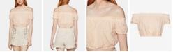 BCBGeneration Cotton Off-The-Shoulder Crop Top