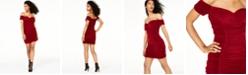 Trixxi Juniors' Off-The-Shoulder Ruched Dress