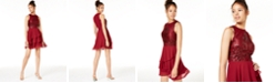 City Studios Juniors' Tiered Fit & Flare Dress, Created for Macy's
