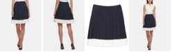 Tommy Hilfiger Pleated Colorblocked Skirt